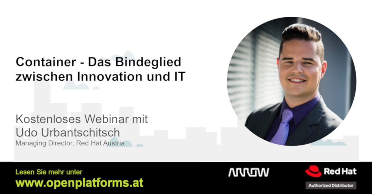 Red Hat Openshift Container Technologie Webinar im Rahmen von Insights by Arrow